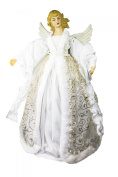 Queens of Christmas WL-ANGEL16-WH Christmas Angel Decorative Accessory, 41cm , White