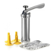 MyLifeUNIT Cookie Press Biscuit Press Set for Kitchen, Aluminium