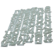 6pcs Alphabet Letters and Numbers Fondant Cake Cutter Embossing Decorating Tool Set