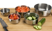 Chef Buddy 5 Piece Stainless Steel Bowl Set with Lids, Silver