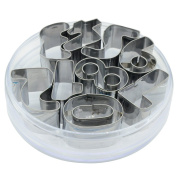 9Pcs Number Stainless Steel Cookie Biscuit Cutters Set Mould Mould DIY Baking Tool