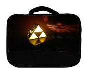 Trendy Accessories The Legend Of Zelda Triforce Symbol 3D EffectDesign Print Image Insulated Canvas Lunch Bag
