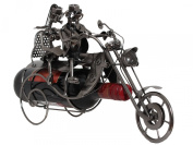 """BRUBAKER Wine Bottle Holder Statue """"Couple On A Motorcycle"""" Sculptures and Figurines Decor & Vintage Wine Racks and Stands Gifts Decoration"""