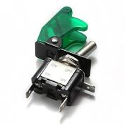 Baomain New 12V/20A Green LED Illuminated On/off SPST Car Automotive Toggle Switch Button