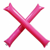 MMRM Inflatable Thunder Stick Bang Noise Maker Football Soccer Basketball Clapper Cheerleader Outfit - Pink