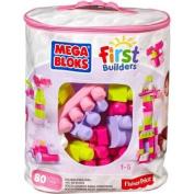 Mega Bloks Big Building Bag, Pink, 80 Pieces