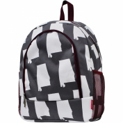 State of Alabama Print Large Canvas School Backpack
