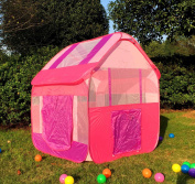Pink Childrenu0027s Playhouse with Tunnel for Indoor/Outdoor with Stakes - Easy Popup Play Tent & Tents Big W Toys: Buy Online from Fishpond.com.au