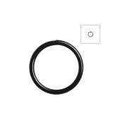About 450pcs Zacoo Open Jump Rings Shape Round Colour Black 7x7x0.7 Outside Diameter 7mm