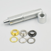 """100 sets Grommets Eyelets 4/16"""" 3/10"""" 3/8"""" 1/2"""" 6mm 8mm 10mm 12mm + One Tool for Clothes Self Backing"""