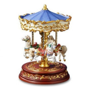 Heritage 3 Horse Rotating Carousel Figurine by San Francisco Music Box