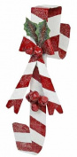 Factory Direct Craft Candy Cane Striped Metal Wreath Hanger for Displaying Christmas Wreaths, Holiday Swags and More
