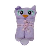 140cm x 80cm Owl Velour Toddler Towel, Purple, Frenchie Mini Couture