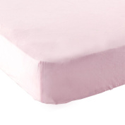 Luvable Friends Fitted Portable Crib Sheet, Pink