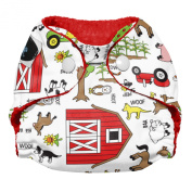 Imagine Baby Products Newborn Stay Dry All-In-One Snap Cloth Nappy, Barnyard Jam