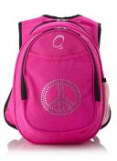 Obersee Kid's All-in-One Pre-School Backpacks with Integrated Cooler, Rhinestone Peace