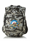 Obersee Kid's All-in-One Pre-School Backpacks with Integrated Cooler, Camo Aeroplane
