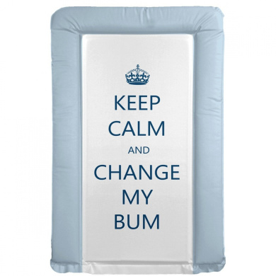 It's A Baby Keep Calm and Change My Bum Changing Mat (Blue)