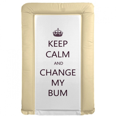 It's A Baby Keep Calm and Change My Bum Changing Mat (Neutral)