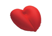 Dr. Winkler 432 Inflatable Heart-Shaped Bath Cushion with 1 Suction Cup Red