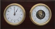 Fischer 1486-22 Marine Barometer with Quartz Clock