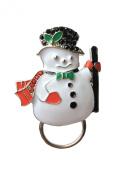NEW Rhinestone Christmas Snowman Glasses / Spectacle Hanger Brooch Pin Holder
