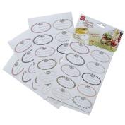 Bormioli Rocco Quattro Stagioni Labels 30pk