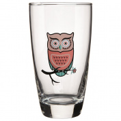 Hi Ball Owl Tumbler Pink 465ml