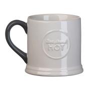 Jamie Oliver Embossed Mug Best Served Hot Slate Grey 375ml