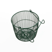 Green Poly Coated Round Peg Basket