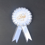 Bride To Be Badge Brooch Rosette Hen Night Party Accessory Shabby Chic Style