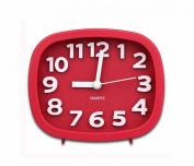 Vococal Cute Silent Alarm Clock Table Desk Clock Wine Red