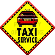 TAXI SERVICE Baby on Board Car Window Sign