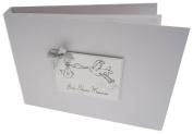 white cotton cards Value Range Baby Shower Memories Baby Stork Design Tiny Value Album