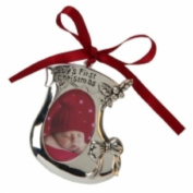 Beautiful Baby's 1st Christmas Hanging Tree Decoration In The Shape Of A Christmas Stocking With Space For A Photo Of Baby