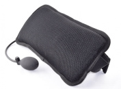 AirCare Ergonomic Infinitely adjustable Lumbar Support Pad for Lower Back Pain Relief. Hand pump inflating air cell and sculptured foam. Breathable washable 3D mesh cover.