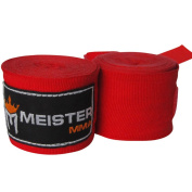 Meister 460cm Elastic Cotton Hand Wraps for MMA & Boxing