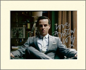 ANDREW SCOTT SHERLOCK MORIARTY SIGNED AUTOGRAPH PHOTO PRINT IN MOUNT