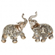 Small Silver Decorative Buddha Elephant Ornament