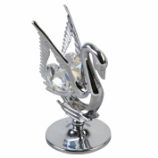 Crystocraft Keepsake Gift Ornament - Swan with Swarvoski Crystal Elements