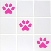 Paw Print Tile Stickers - Pack of 18 Paw Print Stickers