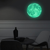 Walplus 30 x 30 cm FL1073 Glow in Dark Moon Wall Sticker, Multi-Colour