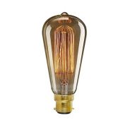 ONEPRE Vintage Edison Light Bulb B22 Bayonet 40W Reproduction Filament Light Bulb
