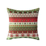 Cotton Linen Stripes Throw Pillow Case Comfortable Cushion Cover 46cm Christmas New Year Xmas Home Decor