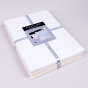 100% Egyptian Cotton Fitted Sheet 200TC White (Double) by Emma Barclay