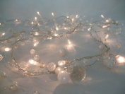 2.7M Cream Beaded Garland 50 Clear Micro Lights