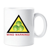 Wind Warning Brussel Sprout Mug Funny Bovelty Christmas Stocking Filler Cup