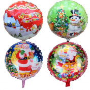 12pcs/Set Christmas Aluminium Foil Santa Clause Balloons Party Supplies Decoration