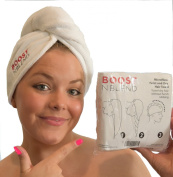Hair Towel for larger heads, curly hair, long hair. Very generous size. Highest quality microfiber hair wrap