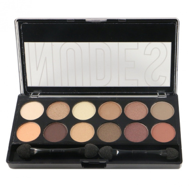 City Colour Nudes Eyeshadow Palette w/ Brush & Mirror #E0027